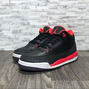Air Jordan Retro 3 Crimson 2013 VNDS 6Y=Womens 7.5